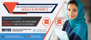 SBM offers new batches of ACCA Part 1 and FD Part 2