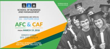 Admission open in AFC & CAF Levels of CA