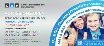 FA1 & MA1 starting from 14th Sep and FA2 & MA2 starting from 7th Sep, 2017
