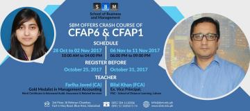 SBM offers crash course of CFAP1 and CFAP6