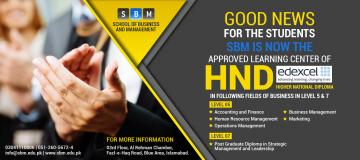 SBM is now Approved Learning Center of HND (Edexcel)