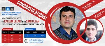 Congrats to Sir Kaleem Ullah and Sir Sami Ullah for ACCA's Result