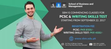 PCSC and Writing Skills Test Classes starting from 22 Sep