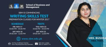 Writing Skills Test Classes starting from 17 Nov