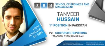 Tanveer Hussain is the High Achiever of SBM