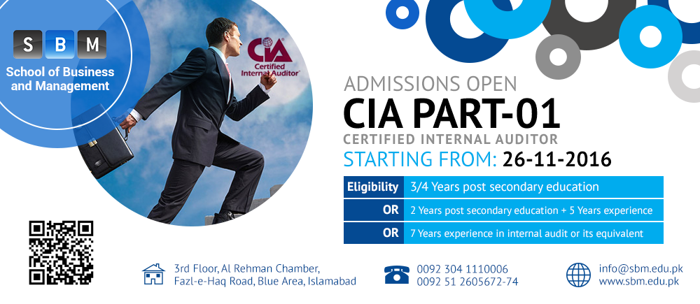 SBM Offers Classes for CIA Part 1