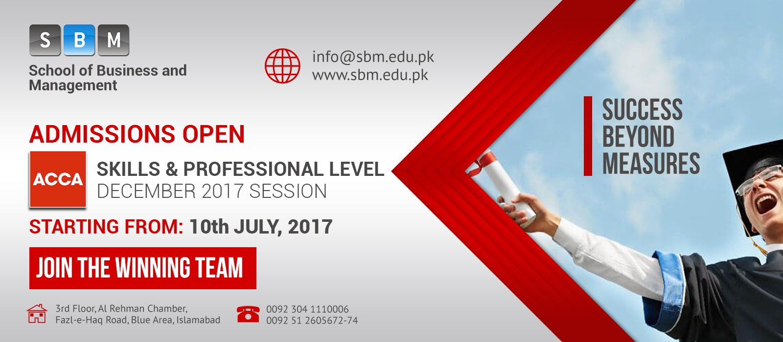 December 2017 session of skills & professional level starting from 10 July