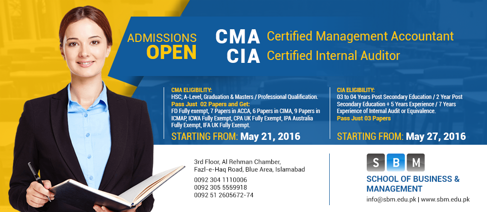 Discounts available for early birds for registration in CMA and CIA