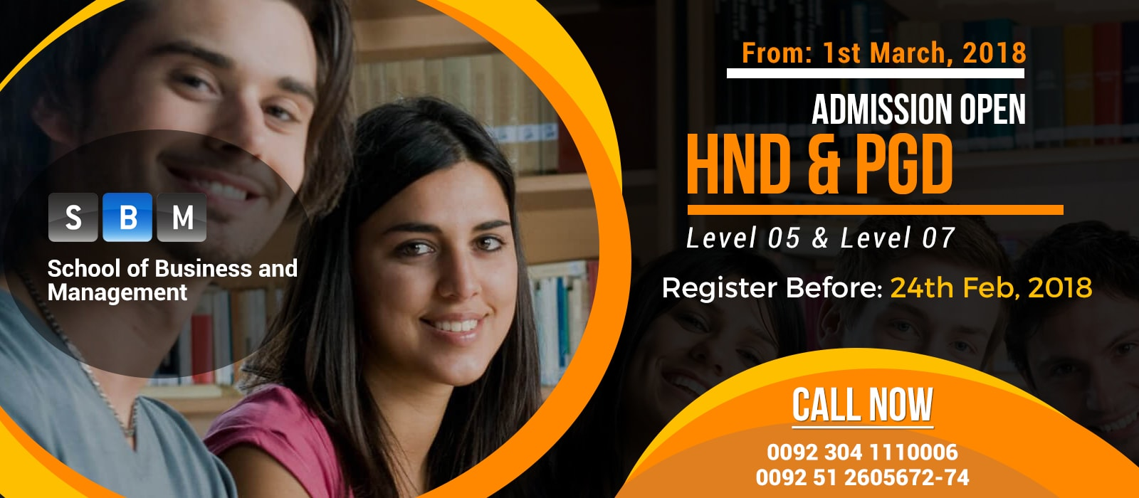 HND & PGD classes starting from 1st March, 2018