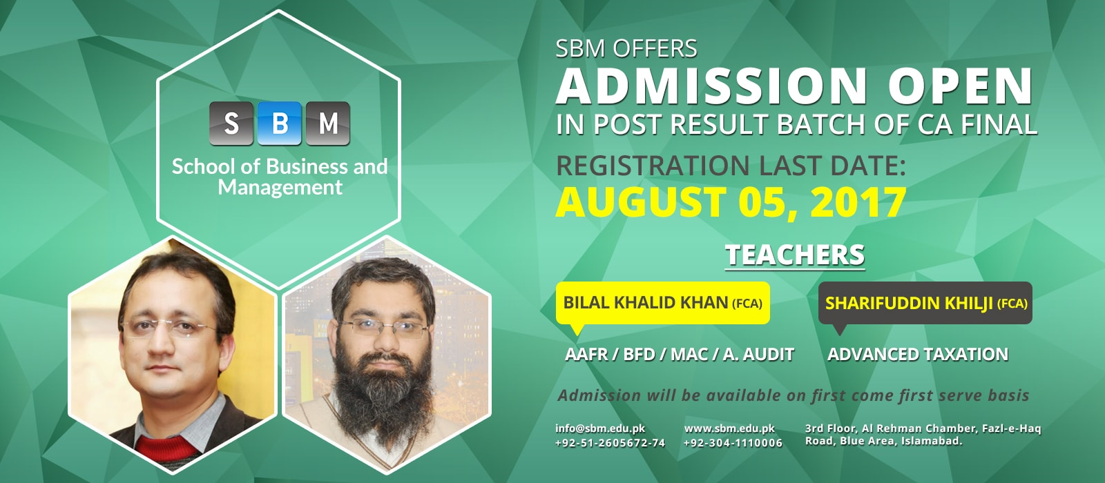 SBM Offers Post Result Batch of CA Final from 05 August