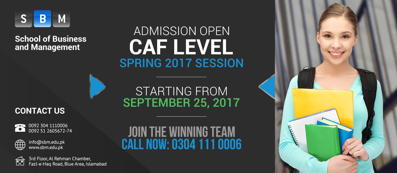 Spring 2017 Session of CAF Level starting from 25 Sep