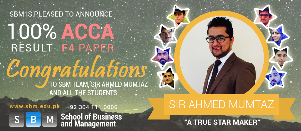 Congratulations to SBM, Sir Ahmad Mumtaz and all the students
