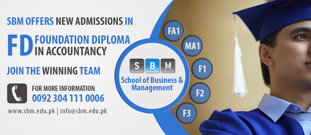 SBM Offers Admissions in FA1, MA1, F1, F2 and F3