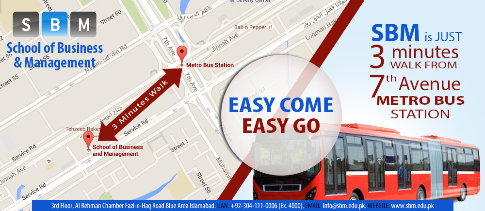 SBM is just 3 minutes walk from 7th Avenue Metro Bus Station